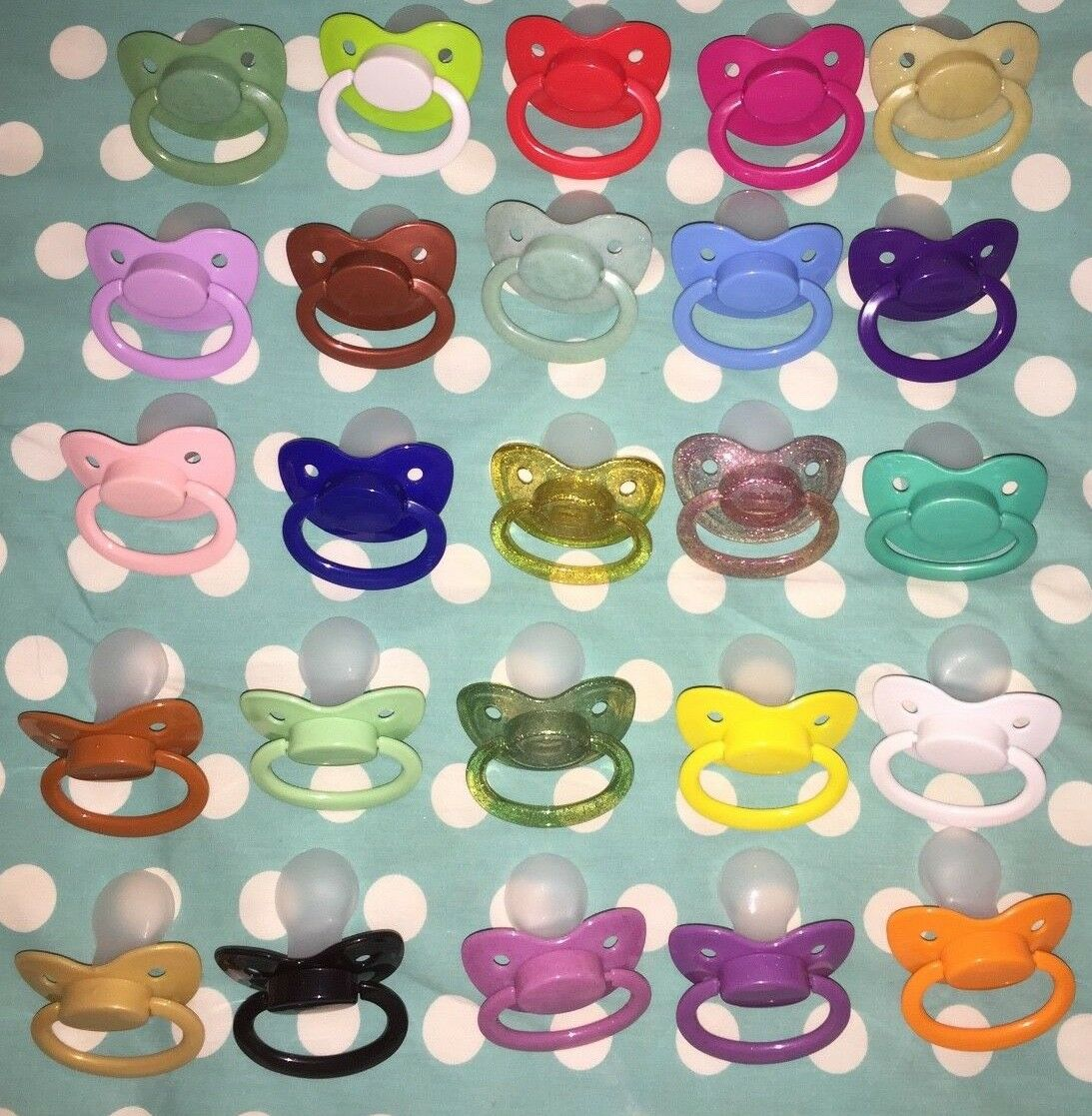 Adult  Nuke size 6 Silicone Pacifier / Dummy in 25 COLOR OPT