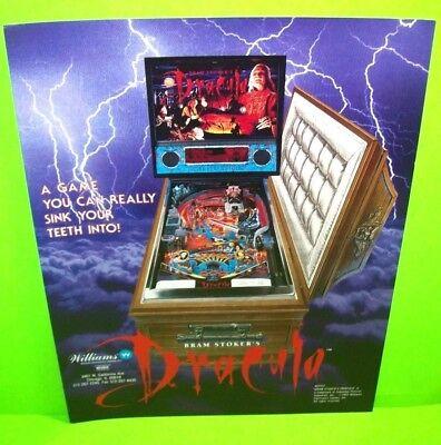 Bram Stoker's DRACULA Pinball FLYER 1993 Original Game Art NOS Horror Halloween