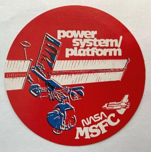 Rare NASA Marshall MSFC Power System / Platform SPACE STATION Decal / Sticker