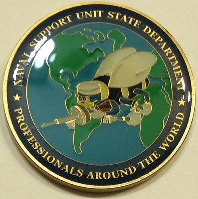 Department Of State Naval Support Unit Seabee Cb Navy Challenge Coin