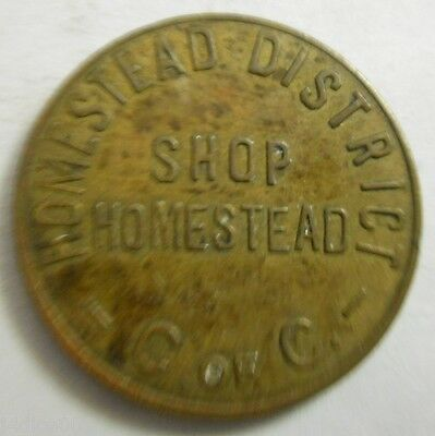 Homestead, Pennsylvania parking token - PA3463A