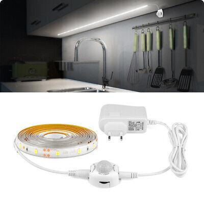 PIR Motion Sensor LED Strip Light for Kitchen Under Cabinet Light Stair Wardrobe ()