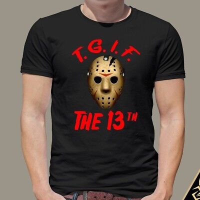 Halloween Men Shirt | TGIF The 13th | Jason Voorhees | Friday 13th Shirt  - Halloween Friday Tgif