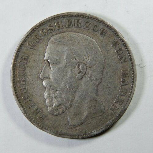 BADEN (German State) 5 Mark 1875 G - Silver