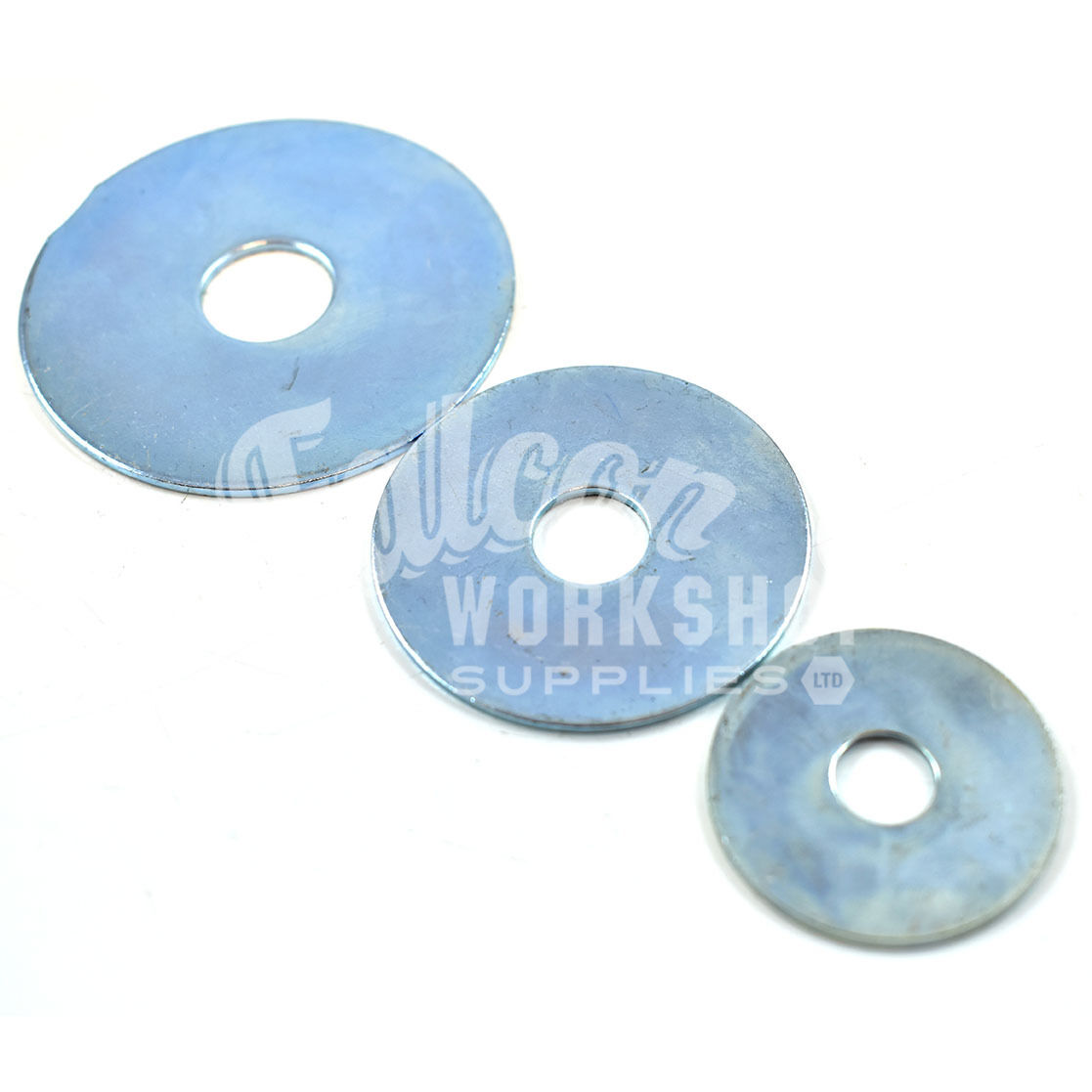 M10 MIX 6 OF EACH SIZE 20mm 50mm M5 STEEL REPAIR PENNY WASHERS MUDGUARD