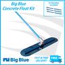1200mm Big Blue Concrete Easy Float Kit including 3 Handles - Cement Trowel Kit