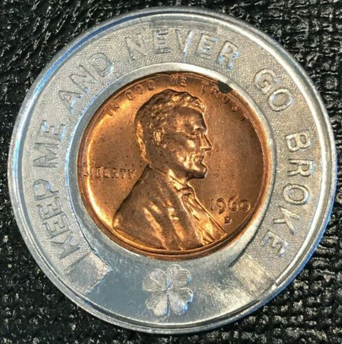 ENCASED AU/UNC 1960 D LINCOLN CENT-LINCOLN COIN SHOP WYANDOTTE MICHIGAN-OCT447