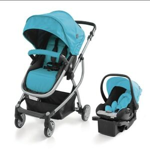 Blue Urbini Travel System Carseat Base Stroller