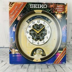 2019 Seiko Melodies in Motion Special Edition Wall Clock Swarovski Crystals NEW