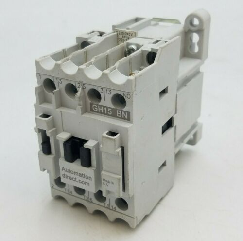 Automation Direct GH15BN Contactor 600V 30A 3PH Coil 220-240V 50/60Hz GH15 BN