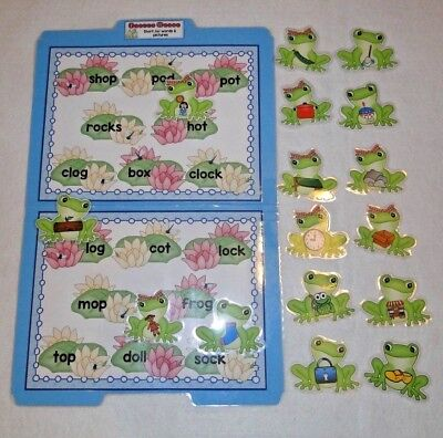 Froggy Phonics Game - Froggy Words Short O Phonics Literacy Center File Folder Game Teacher Resource