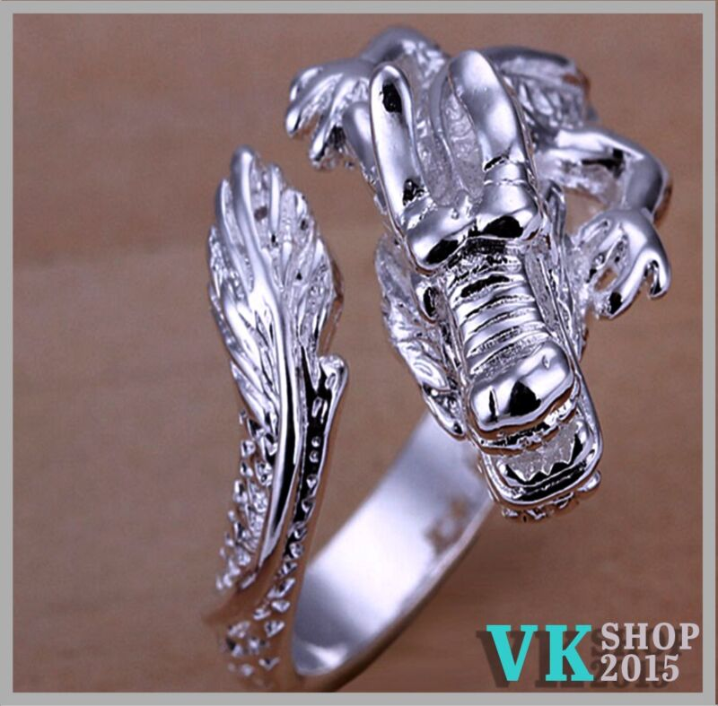 Dragon Sterling Silver Jewelry Ring