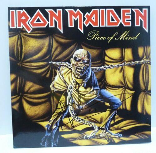 Bruce Dickinson Iron Maiden Piece Of Mind Autograph Signed LP Beckett Certified
