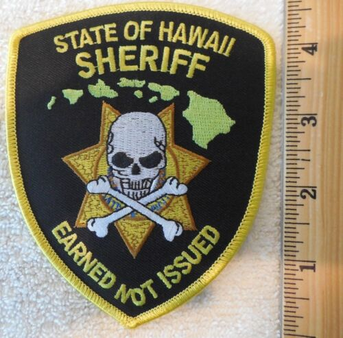 STATE OF HAWAII SHERIFF PATCH (HIGHWAY PATROL, SHERIFF, STATE)