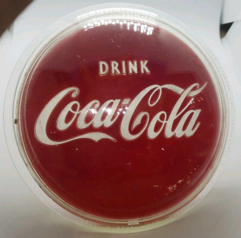 RARE Antique DRINK COCA COLA Lens Kopp Glass for Teleoptic Co. Racine Wis.