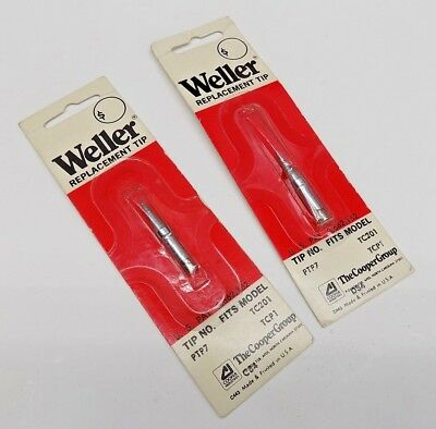 2 Pc Weller Ptp7 Soldering Iron Tip For Tc201 Iron New In Package