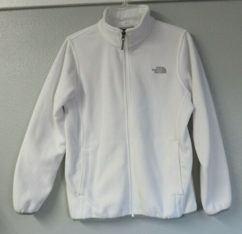 The North Face White Long Sleeve Full Zip Jacket Girls Size XL 18 Polyester