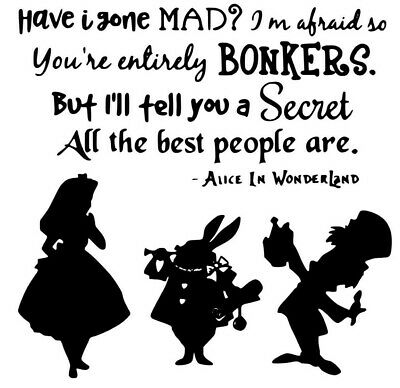 Alice In Wonderland Wall Decal Cheshire Cat Quote Imagination Is The Only S94