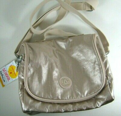 KIPLING KICHIROU Insulated Lunch Bag Tote CrossBody Bag NWT Sparkly Gold