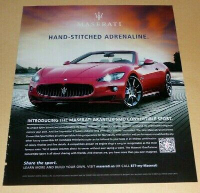 MASERATI GRANTURISMO CONVERTIBLE SPORTS CAR  ADVERTISEMENT ADRENALINE