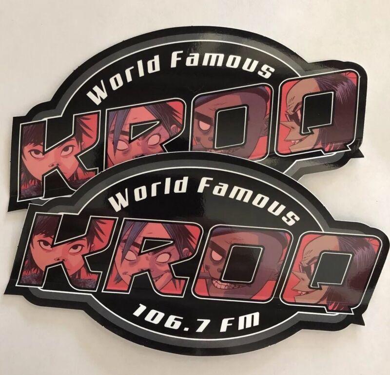 (2) KROQ x GORILLAZ (2018) World Famous 106.7 California Radio Station Stickers