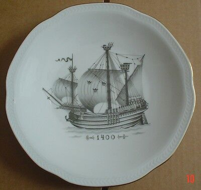 Rörstrand Collectors Plate WITH COMPLIMENTS OF SVENSKA ORIENT LINIEN 1400
