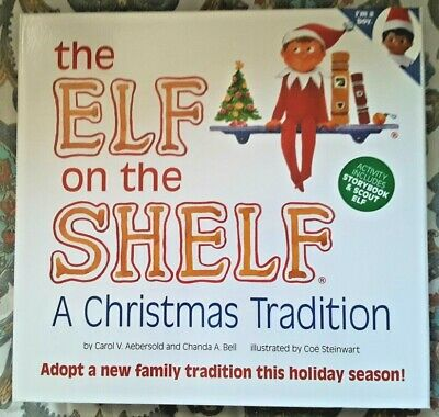 THE ELF ON THE SHELF A CHRISTMAS TRADITION BOX SET DOLL & BOOK, BOY, LATINO? NIB