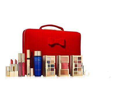2020 New Estee Lauder Blockbuster Christmas Holiday Make Up Gift Set Train Case