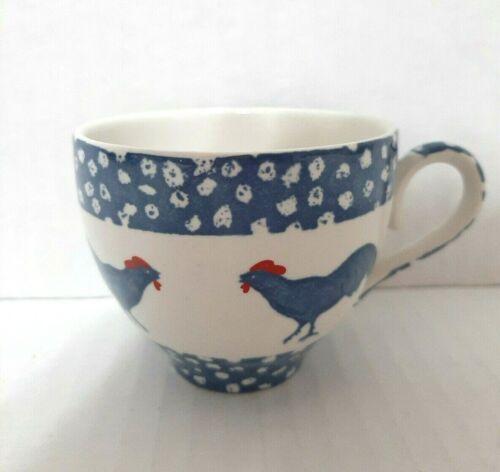 Burleigh England Chanticleer Tea Cup Alice Cotterell Farmhouse Chickens Blue
