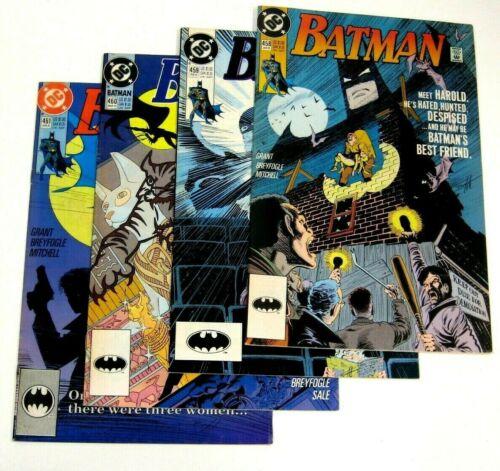 LOT Batman 458 459 460 461 (1991 DC) VF / NM KEY: Catwoman 1 & 2 app