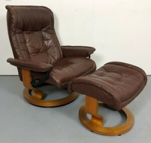 Ekornes Stressless Modern Paloma Leather Recliner Chair Large Sized ROYAL Model
