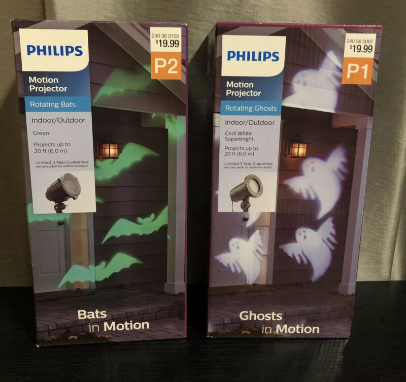 Halloween Motion Projector Philips Bats And Ghosts In Motion