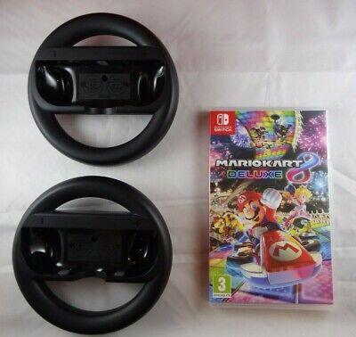 Mario Kart 8 Deluxe with 2x Joy-Con Steering Wheels - Switch