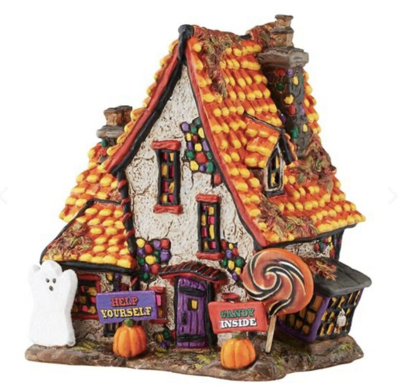 Rare New Dept 56 Halloween Village - Sweet Trapping Cottage 4051012  Candy Corn