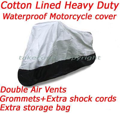 Lined Waterproof Heavy Duty Deluxe B Motorcycle Cover Harley Street Glide