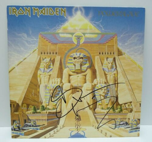 Bruce Dickinson Iron Maiden Powerslave Autographed Signed LP BAS Certified