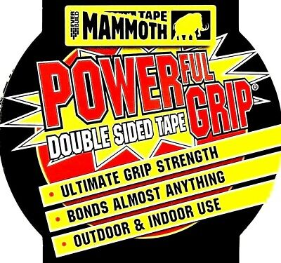 DOUBLE SIDED TAPE 12mm 25mm 50mm Heavy Duty Strong Adhesive Glue EVERBUILD