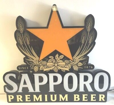 """Sapporo Premium Japanese Beer Pint Can LED Beer Sign 27.5x12"""" Brand New In Box!"""