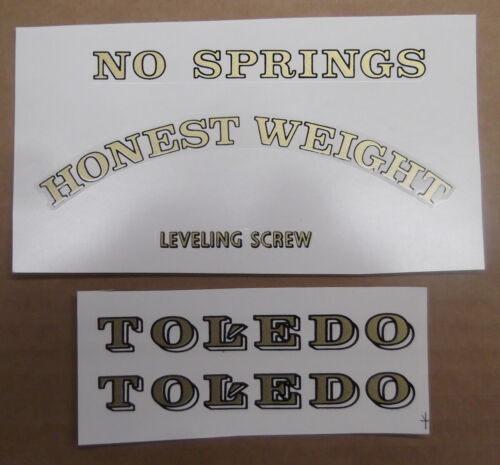 NEW TOLEDO SCALE COMPLETE WATER TRANSFER DECAL SET
