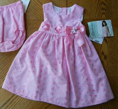 NEW Girl Fancy Pink Sundress 6-9 Month $44 Bonnie Jean 2-pc Sun Dress NWT