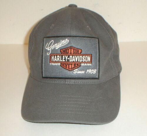 Genuine Harley-Davidson Motorcycles Patch Strapback Trucker Hat (One Size)