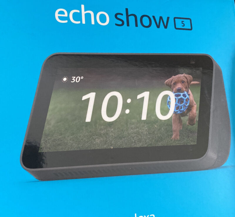 "2021 Amazon Echo Show 5"" HD Compact smart display with Alexa NEW / Sealed"