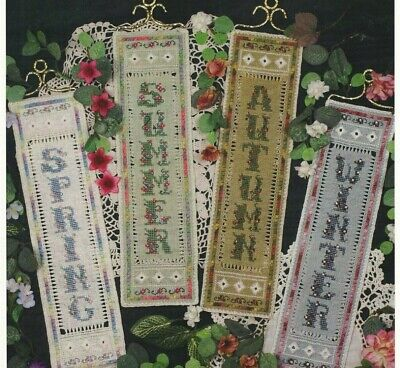 FOUR SEASONS--Bell Pull-Victoria Sampler-4 Designs--Counted Cross Stitch Pattern