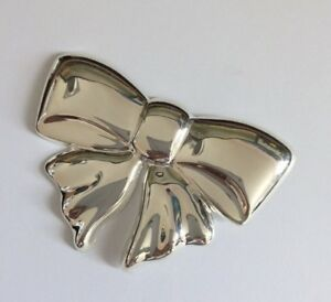 Sterling silver (925), Unique Bow Brooch