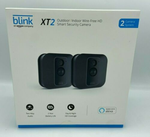 Blink XT2 Indoor/Outdoor Wi-Fi Wire Free 1080p Security Camera - 2 Camera Kit