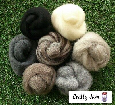 Needle Felting Grey Tones Ideal for 3D Projects. Felting Wool, 45g Needle Felting Projects