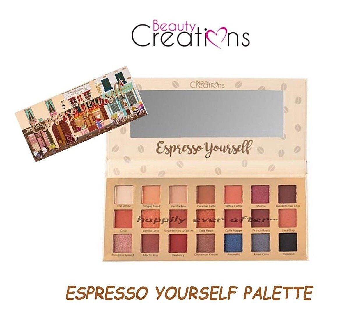 Beauty Creations Espresso Yourself Palette- 21 Colors Eyesha