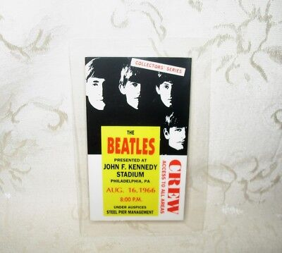 Collector's Series Beatles Access Pass John F. Kennedy Stadium August 16, 1966