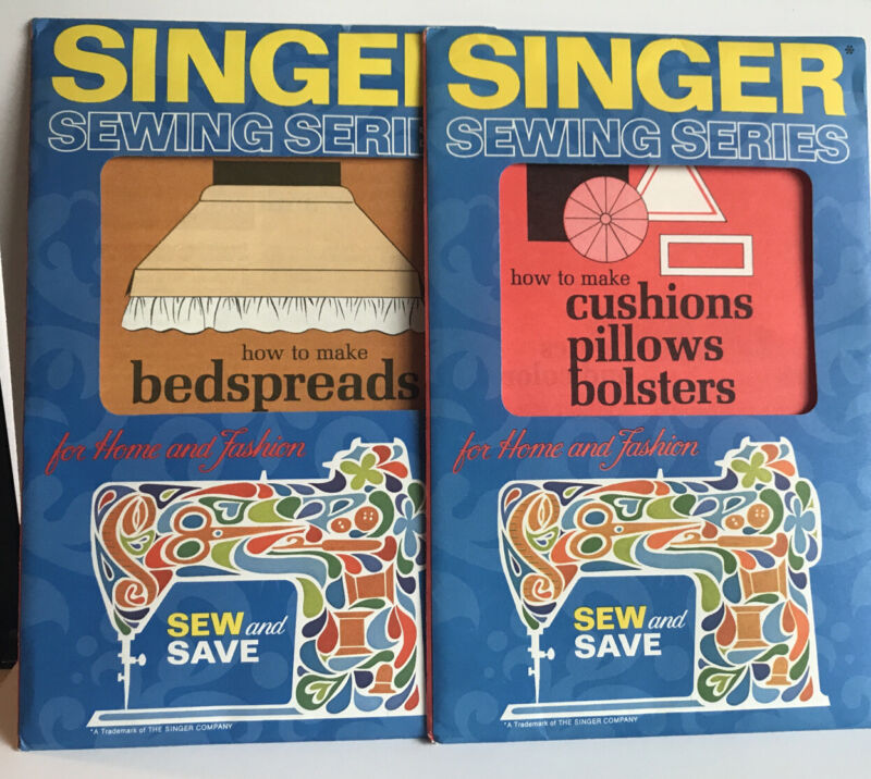 Singer Sewing Series Booklets Bedspreads/ Cushions Pillows Bolsters 1972