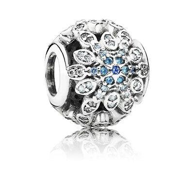 Pandora Silver Charm Crystallized Snowflake Bead 791760ALH Crystal Snowflake Charm